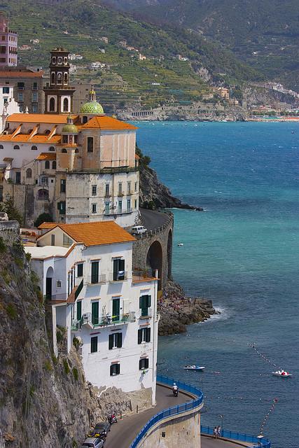 A bend to Atrani, Amalfi Coast, Italy