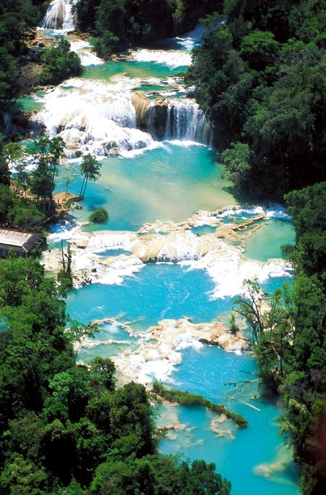 Waterfalls and Rapids, Chiapas, Mexico