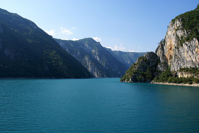 by Andrew Prime on Flickr.Pivsko jezero  - the biggest artificial lake in Montenegro.