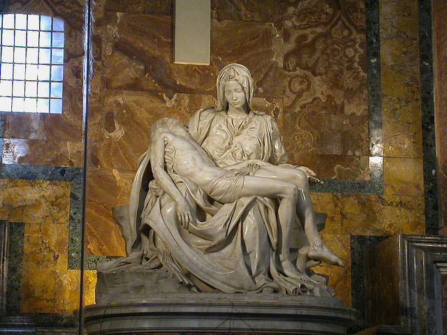 "by Lazuli on Flickr.Michelangelo's ""La Pieta"" inside St. Peter's Basilica in Vatican City."