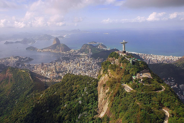 by DeSouzaLima on Flickr.Panoramic view over Rio De Janeiro, Brazil.