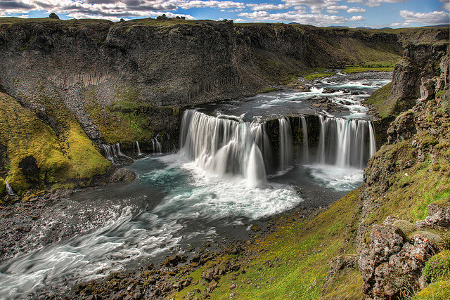 by sveinn71 on Flickr.Axlarfoss waterfall in southern Iceland.