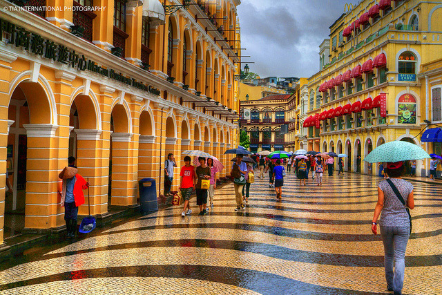 by TIA International Photography on Flickr.The UNESCO World Heritage Site of Senado Square in the historical centre of Macau.