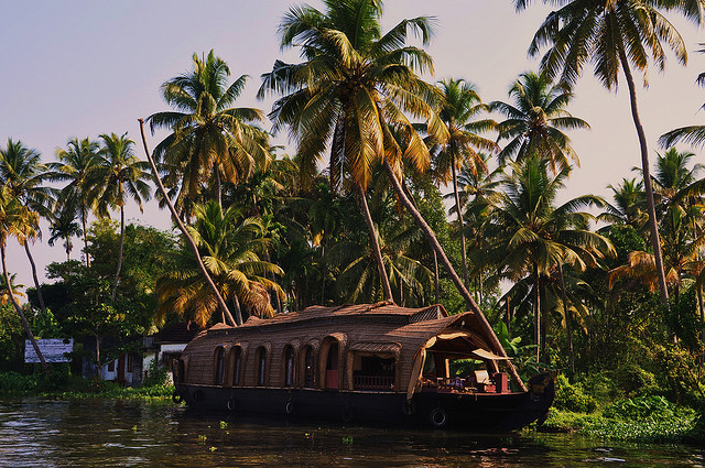 by marinfinito on Flickr.Cruise on the backwaters in Kerala state, southern India.