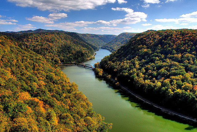 by timberwolf1212 on Flickr.View of New River Gorge in West Virginia, USA.