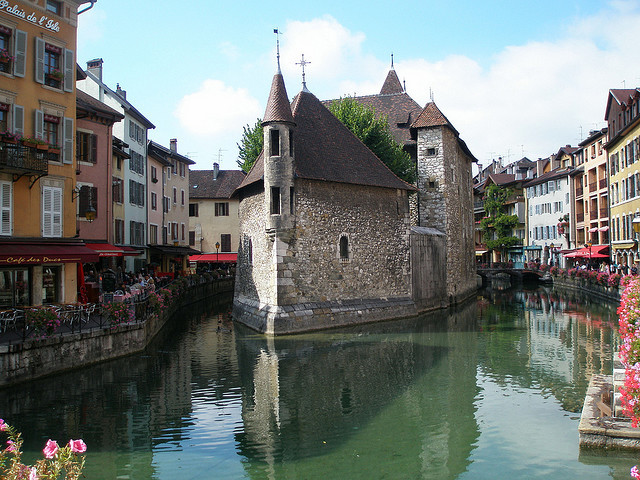 Palais de l'Isle on the canals of Annecy, France