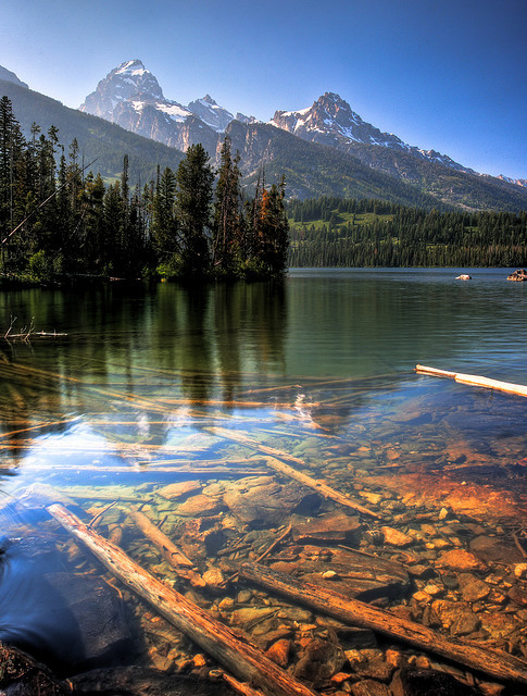 Beautiful view at Taggart Lake, Grand Teton NP, Wyoming, USA