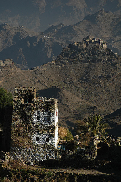 Traditional villages in Haraz Mountains, Yemen