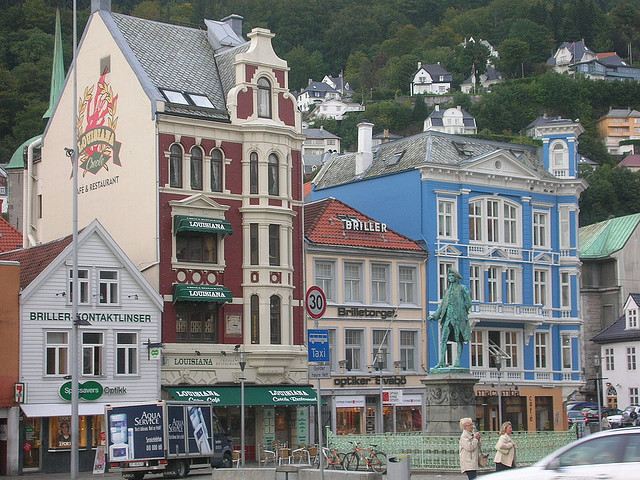 Beautiful buildings in Bergen, Norway
