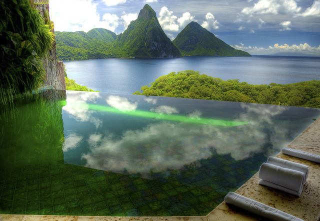 Spectacular Pool at Jade Mountain Resort, St. Lucia