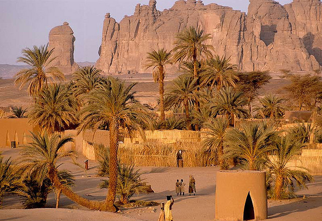 Bardai oasis in the heart of the Sahara Desert, Chad