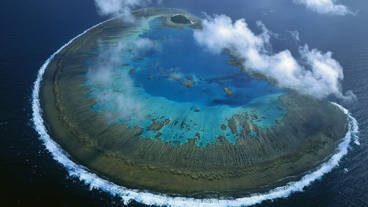 Lady Musgrave Island coral atol, Great Barrier Reef, Queensland, Australia.
