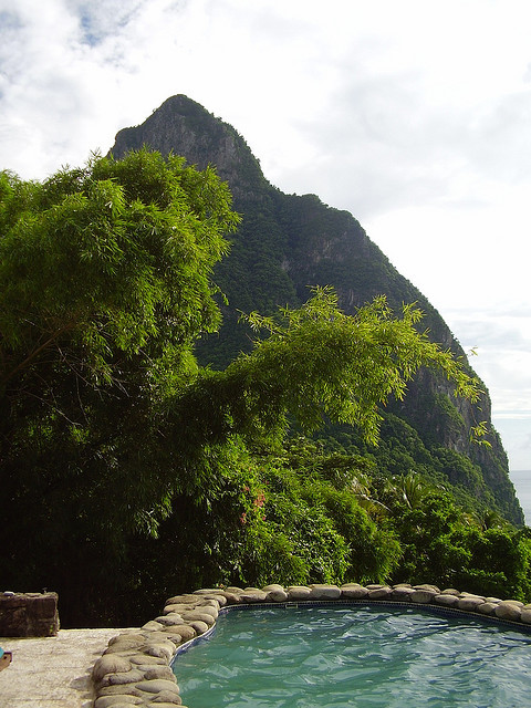 Petit Piton view from the villa, St. Lucia