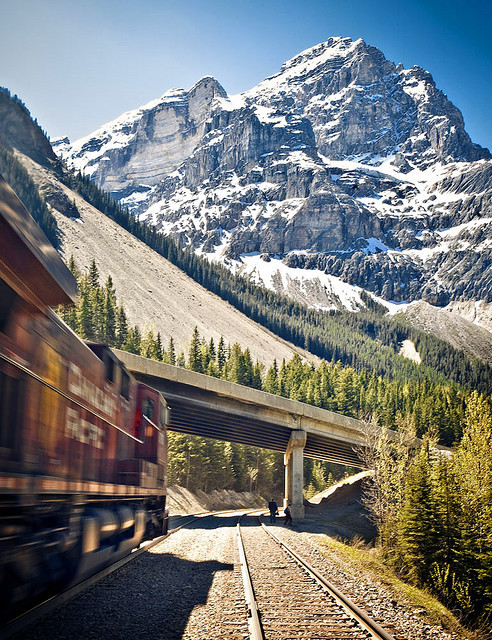 Mountain Train, Rocky Mountains, Colorado