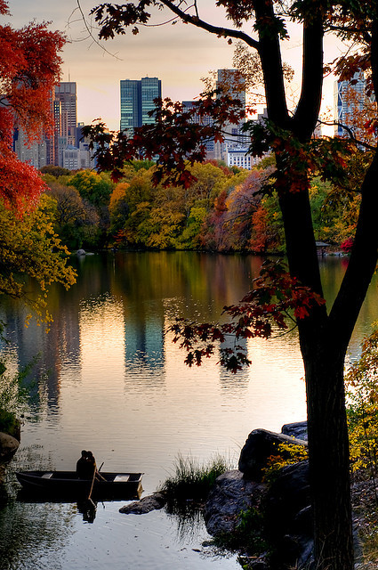 A little romance in Central Park, New York, USA