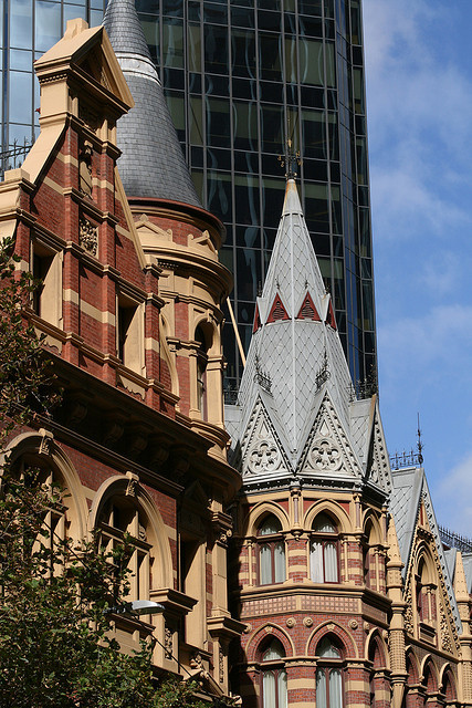 Victorian architecture on Collins Street, Melbourne, Australia