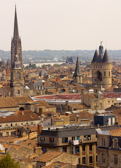 View from Tour Pey-Berland in Bordeaux, France