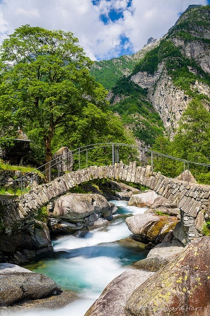 Stone Bridge, Ticino Canton, Switzerland
