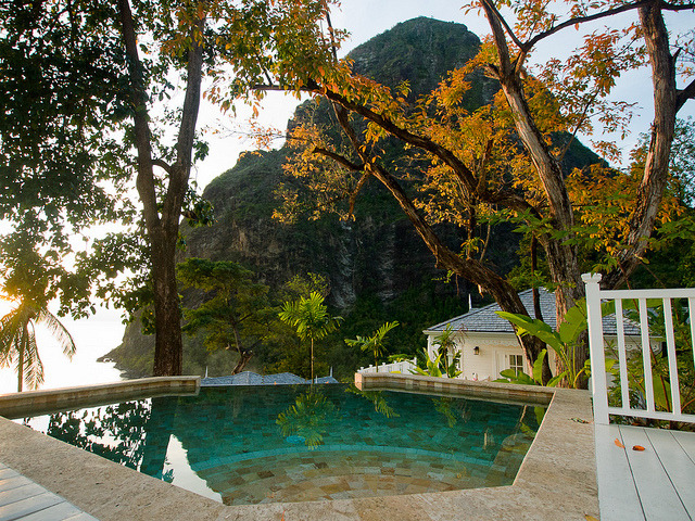Plunge pool at Jalousie Plantation Resort, St. Lucia