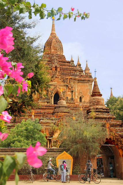 Ancient burmese temple in Bagan, Myanmar