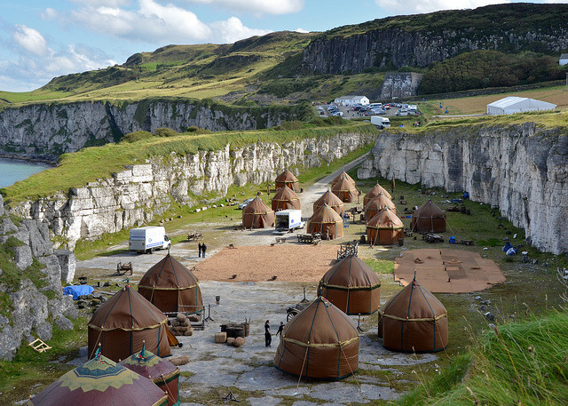 "The fictional town of Pyke in ""Game of Thrones Series"" in Ballintoy, Northern Ireland"