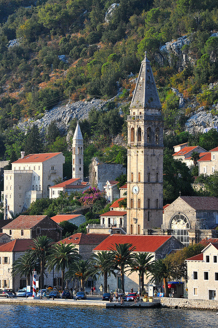 The lovely town of Perast in Bay of Kotor, Montenegro